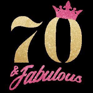 Glitter 1950 70 Jahre Geburtstag Pailletten Krone