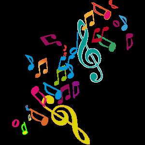 kunterbunte zusammengewürfelte Musik Noten