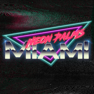 Neon Palms Traingle Version1
