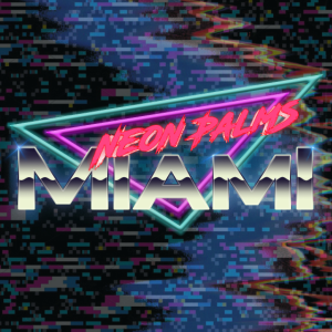 Neon Palms Traingle Version4