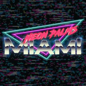 Neon Palms Traingle Version 5