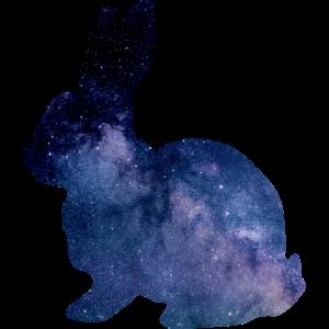 Hase Weltraum Blau