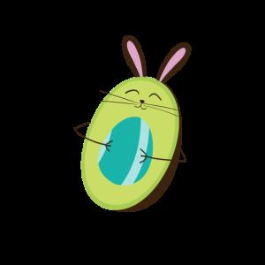 Avocado Osterhase Ostergeschenk