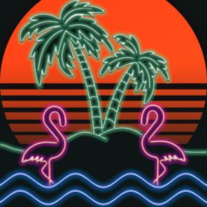 Neon Flamingo Island