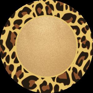 Leopard Muster Leopardenmuster Kreis Rahmen Name