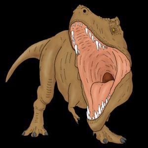 T-Rex brüllend