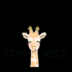 Stay wild coole Giraffe mit witzigem Text