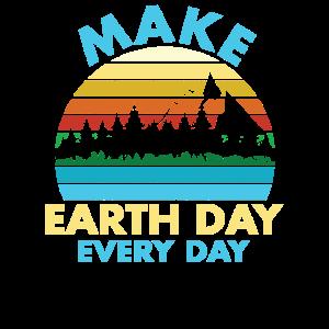 Retro Tag der Erde jeden Tag