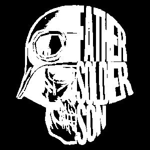 Father soldier son - Soldat Veteran Helm