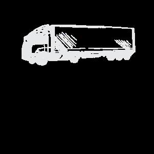 LKW - Fahrer - Silhouette / Zeichnung weiß
