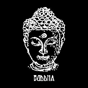 Buddha - klein weiss