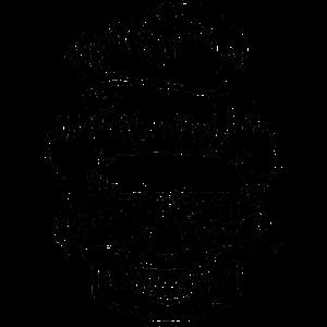 Totenkopf mit Bun Hairstyle und Sonnenbrille