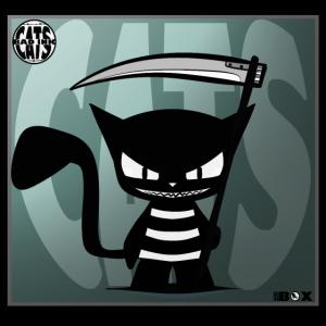 BAD INK CATS teuflische Katze COMIC CARTOON