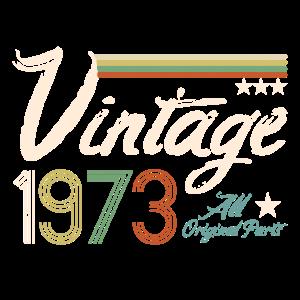 Baujahr 1973 - 47. Geburtstag Vintage