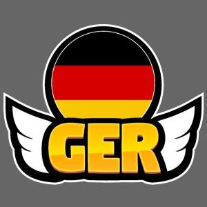 00062 Alas Alemania bandera escudo insignia