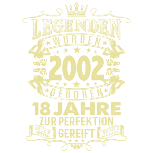 18. Geburtstag Jahr 2002 Geschenk T-Shirt 18 Jahre