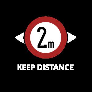 2 Meter Abstand social distancing Kontaktverbot
