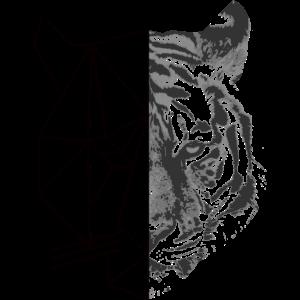 Geometrisches Tiger Design
