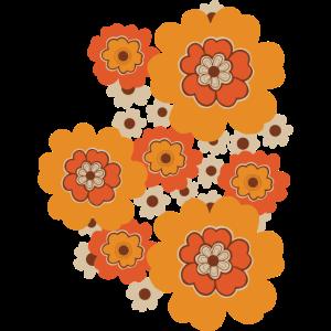 70er Jahre voller Blumen