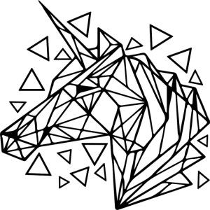 unicornio minimalista