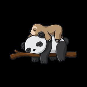 Panda Faultier Liebhaber niedlich schlafende nette
