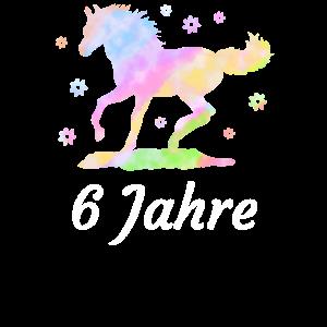 6.Geburtstag 6 Jahre Pferd Reiterin Mädel Geschenk