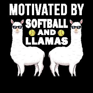 Softball Shirt Mädchen Lama Alpaka Softball