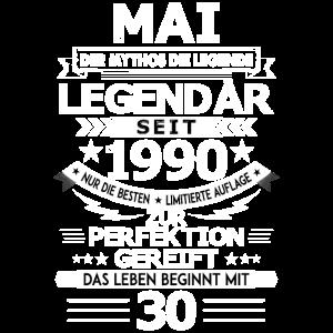 30. Geburtstag Mai 1990 Geschenk Geschenkidee
