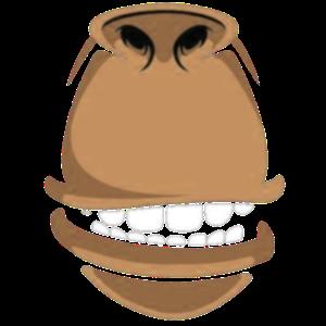 Mundschutz Halstuch - Comic - Affe