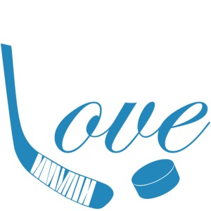 hockey love babyblue