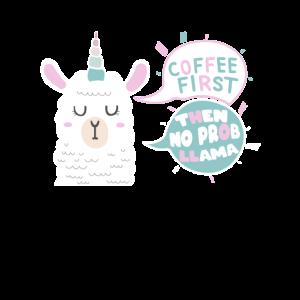 Llamacorn No Problama Kaffeetrinker