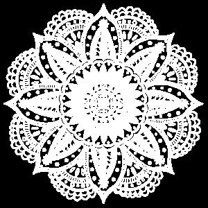 Mandala weiß