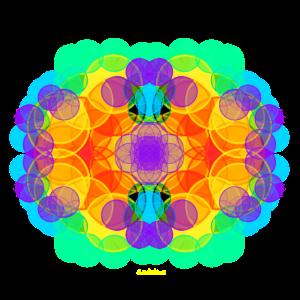 Chakrablüte Grün-Violett