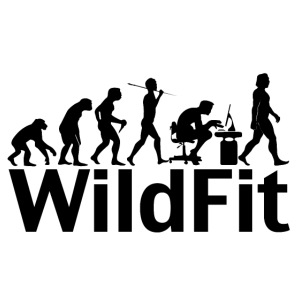WildFit Logo Evolution in Schwarz