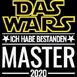 Master 2020 Das Wars Ich habe bestanden Abschluss