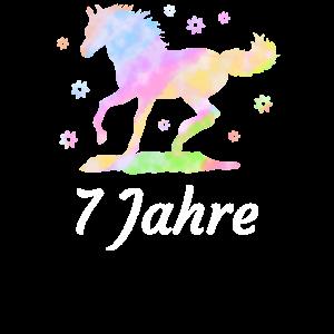 Pferd Geburtstag Reiten 7 Jahre Reiterin Geschenk