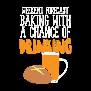 Lustiges Back Shirt Wochenendprognose Bier trinken