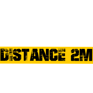 Bitte Abstand von 2 Meter halten