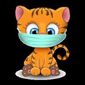 Mundschutz Tiger Katze