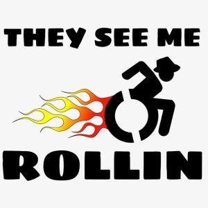 > Ze zien me rollen met mijn rolstoel, roller