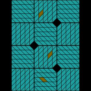 Ornamentik Vierecke türkis, Smartphonehülle