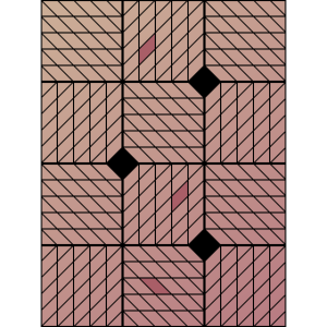 Ornamentik Vierecke rosa, Smartphonehülle