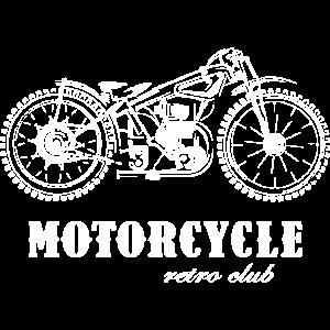 retro motorcycle club tshirt