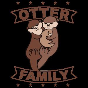 Otter Family, Kinder. Geschenk, Geschenkidee