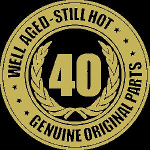 Goldenes Geburtstagslogo zum 40ten
