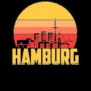 Hamburg Stadt Skyline