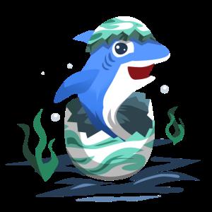 Hai aus dem Ei geschluepft Geschenk