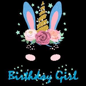 Geburtstag Geschenk Mädchen Birthday Girl Hase