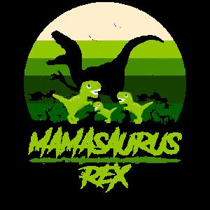 Mamasaurus Dinosaurier 3 Kinder Retro Vintage Geschenk