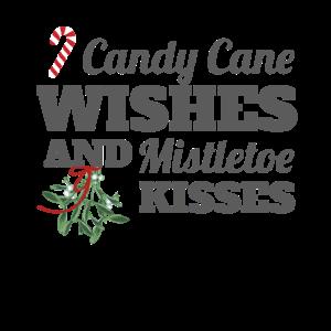 Zuckerstangenwünsche und Mistelküsse Weihnachten